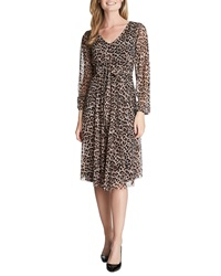 Cynthia Steffe Avery Long Sleeve Leopard Print Wrap Dress