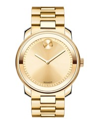 42.5Mm Gold Ip Stainless Steel Watch Movado Bold Silver