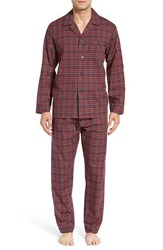 Majestic International Men's 'Cvc' Cotton Blend Pajamas Holiday Red