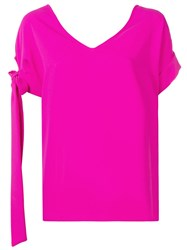 P.A.R.O.S.H. Side Bow Detail Blouse Pink