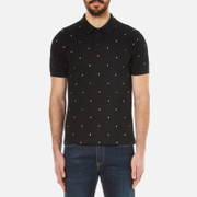 Kenzo Men's Embroidered Letters Pique Polo Shirt Black