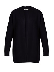 Vince Open Front Cashmere Knit Cardigan Navy