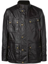 Belstaff Button Shirt Jacket Black