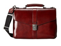 Bosca Flapover Brief Dark Brown Briefcase Bags
