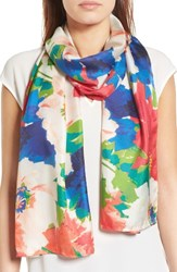 Echo Women's Colada Floral Silk Oblong Scarf Rouge