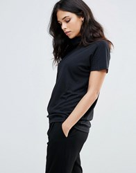 B.Young Roll Neck Top Black