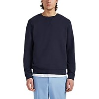 Sunspel Cotton French Terry Sweatshirt Navy