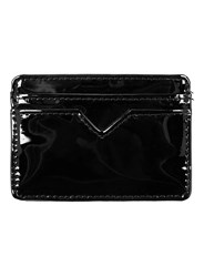 Topman Black Patent Faux Leather Cardholder