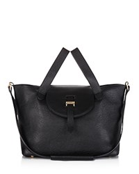 Meli Melo Medium Thela Zipper Tote Black Gold