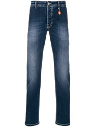 Manuel Ritz Faded Slim Fit Jeans Blue
