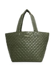 M Z Wallace Oxford Medium Metro Quilted Nylon Tote Green