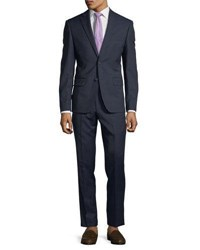 Dkny Slim Fit Neat Wool Two Piece Suit Navy