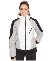 Spyder Amp Jacket Marshmallow Black Limestone Women's Coat Multi