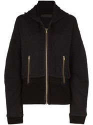 Haider Ackermann Ls Hood Top W Cntrst Wst And Ful Black