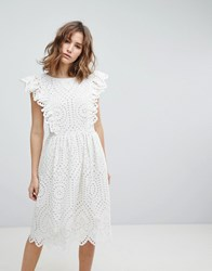Paul And Joe Sister Broderie Anglaise Frill Dress White