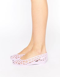 Juju Christabel Cut Out Jelly Flat Shoes Purple