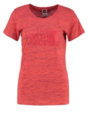 The North Face Easy Print Tshirt Cayenne Red Black Novelty Mottled Light Red