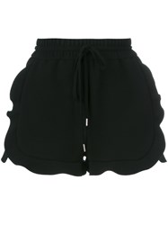 Carven Frill Side Drawstring Shorts Black