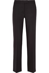 Tod's Stretch Wool Pique Slim Leg Pants Dark Brown