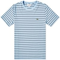 Lacoste Narrow Stripe Tee Blue