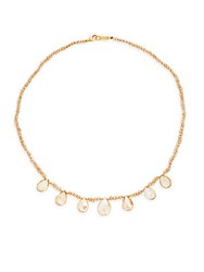 Chan Luu Beaded Crystal Collar Necklace Champagne