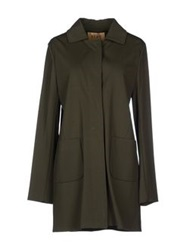 Alviero Martini 1A Classe Full Length Jackets Military Green