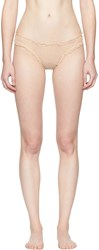 Le Petit Trou Beige Margot Dots Briefs
