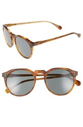 Raen Men's 'Remmy' 52Mm Sunglasses Split Finish Rootbeer