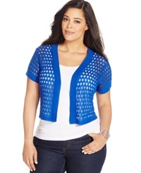 Ny Collection Plus Size Cropped Open Knit Shrug