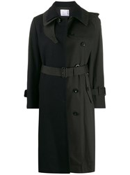Sacai Contrast Trench Coat Blue