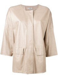 Desa 1972 High Shine Jacket Nude Neutrals