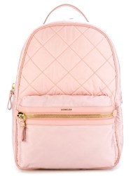 Moncler Quilted Backpack Pink And Purple