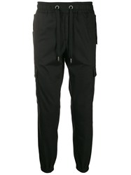 Dolce And Gabbana Stripe Detail Cargo Trousers Black