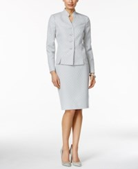 Le Suit Printed Stand Collar Skirt Suit