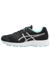 Asics Patriot 8 Cushioned Running Shoes Black Silver Aruba Blue