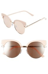 Women's Bp. Enamel Round Sunglasses Pink Rose Gold Pink Rose Gold