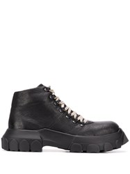 Rick Owens Chunky Sole Hiking Boots Black