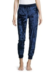 Pj Salvage Velvet Jogger Pants Navy