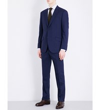 Richard James Regular Fit Stretch Wool Suit Navy