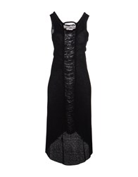 Alessandra Marchi Knee Length Dresses Black
