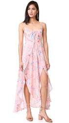 Somedays Lovin Floral Ruffle Dress Peach Floral