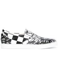 Dsquared2 Printed Slip On Sneakers White