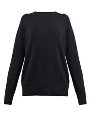 The Row Sibel Wool And Cashmere Blend Sweater Black
