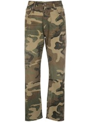 R 13 R13 High Rise Camouflage Cropped Trousers 60