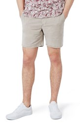 Topman Men's Slim Fit Pleated Shorts Grey