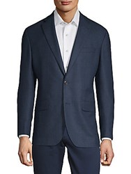 Saks Fifth Avenue Red Austin Wool Sportcoat Blue