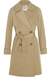Madewell Parcel Cotton Blend Gabardine Trench Coat Sand