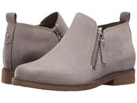 Hush Puppies Mazin Cayto Frost Grey Nubuck Women's Zip Boots Gray