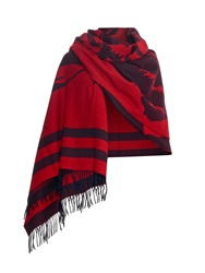 Alexander Mcqueen Rose Wool And Cashmere Blend Blanket Wrap