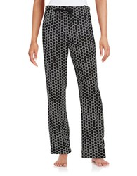 Calvin Klein Patterned Pajama Pants Black White